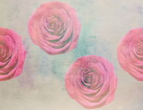 Scenic watercolor  with roses, made with color filters. Scenic watercolor floral with roses, made with color filters Royalty Free Stock Photos