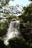 Scenic waterfall. Scenic view of landscaped waterfall in Washington Zoo, Washington D.C, U.S.A Royalty Free Stock Photo