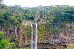 Scenic waterfall. Awesome shot i took in mauritius Stock Image