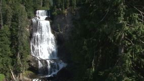 Scenic waterfall in canada stock video
