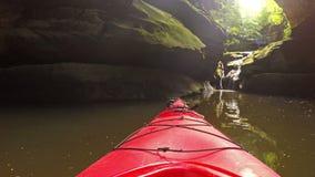 Waterfall at Grayson Lake stock video