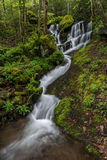 Scenic waterfall, Great Smoky Mountains Royalty Free Stock Images