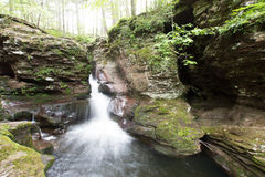 Free Scenic Waterfall In Ricketts Glen State Park In The Poconos In P Stock Photos - 98538743