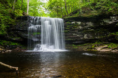 Free Scenic Waterfall In Ricketts Glen State Park In The Poconos In P Stock Image - 98539001