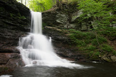 Free Scenic Waterfall In Ricketts Glen State Park In The Poconos In P Royalty Free Stock Image - 98539216