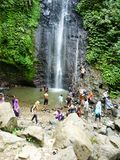 Scenic waterfall in Kudus. Central Java, Indonesia Stock Photography