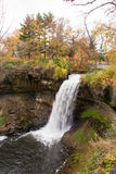 Scenic Waterfall. This is the Minnehaha Park in Minneapolis, Minnesota Royalty Free Stock Photography