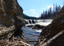 A scenic waterfall in the northwest territories Royalty Free Stock Photography
