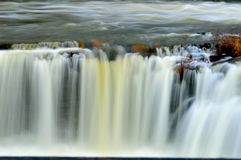 Scenic Waterfall 1. A photograph of a scenic waterfall.    The Long Exposure shot shows the water in a silky soft fashion Royalty Free Stock Photography