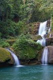 Scenic waterfalls and lush vegetation in Jamaica Royalty Free Stock Image