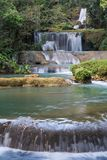Scenic waterfalls and lush vegetation in Jamaica Royalty Free Stock Photography
