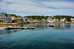 Scenic Waterfront Port of Stonington in Maine Stock Images