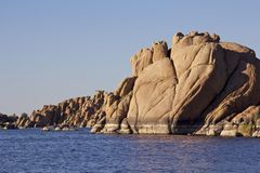 Scenic Watson Lake. Near prescott arizona with interesting granite rock formations along the shore Stock Images
