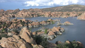 Scenic Watson Lake stock video footage