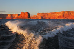 Scenic wave at the stern of the ship Stock Image