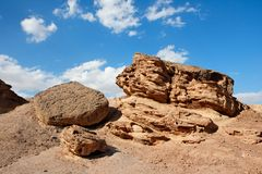 Scenic weathered orange rock in the desert Stock Photography