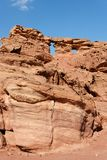 Scenic weathered orange rock in desert Royalty Free Stock Photo