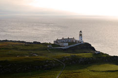 Scenic Westerly Point of the Inner Hebrides. Neist Point Lighthouse on the scenic westerly point of the Inner Hebrides in Scotland royalty free stock photos