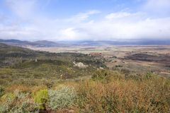 Big valley at Lake Henshaw overlook Royalty Free Stock Images