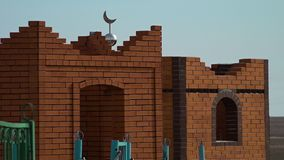 An Islamic cemetery. A scenic wide shot of an Islamic cemetery stock video