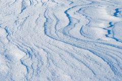 Wind traces on snow Stock Photos