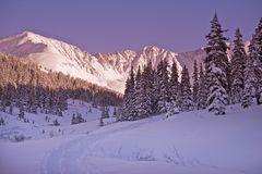 Scenic Winter Colorado Stock Image