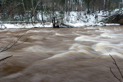 Scenic winter colored river in country Royalty Free Stock Photos