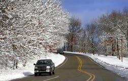 Scenic Winter Drive Stock Photos
