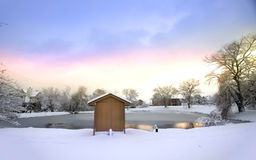 Scenic Winter Landscape Stock Photography