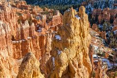 Winter in Bryce Canyon Royalty Free Stock Images