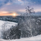 Scenic winter landscape Stock Photo