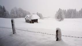 Scenic winter landscape. In Austria stock photos