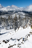 Scenic winter view from mount Pluto in Sierra Nevada Stock Images