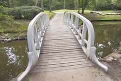Scenic wooden bridge stock photos