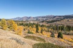 Scenic Wyoming Landscape in Fall Stock Image