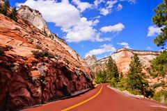 Scenic Zion National Park, USA royalty free stock image