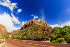 Scenic Zion Road. Zion National Park Interior Road. Utah, USA. Royalty Free Stock Image