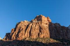 Scenic Zion Sunrise Stock Photo