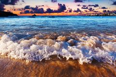 Scenical sunset in beach Royalty Free Stock Photography
