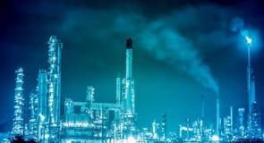 Pianta petrochimica della raffineria di petrolio Fotografie Stock