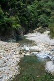 Scenico della traccia di Shakadang nel parco nazionale di Taroko, Taiwan il 30 aprile 2017 fotografia stock