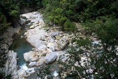Scenico della traccia di Shakadang nel parco nazionale di Taroko, Taiwan il 30 aprile 2017 fotografie stock libere da diritti