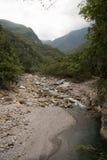Scenico della traccia di Shakadang nel parco nazionale di Taroko, Taiwan il 30 aprile 2017 immagini stock
