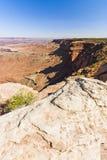 Scenico trascuri dall'isola nel cielo, deserto di Canyonlands di Moab Immagine Stock Libera da Diritti