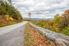 Scenico trascuri, Ridge Parkway blu, la Virginia Fotografie Stock Libere da Diritti