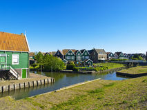 Scenics Cottages in Marken, Netherlands Stock Images