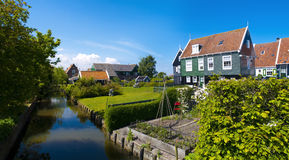 Scenics Cottages in Marken, Netherlands Stock Photos