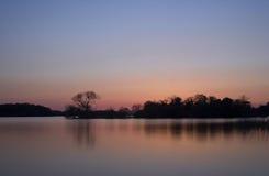 Scenics del lago sunset - lago a Killarney, Irlanda Fotografie Stock
