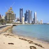 Scenics della baia di Doha fotografia stock libera da diritti