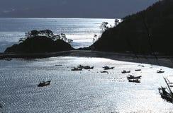 Scenics. Fishing Village royalty free stock photo
